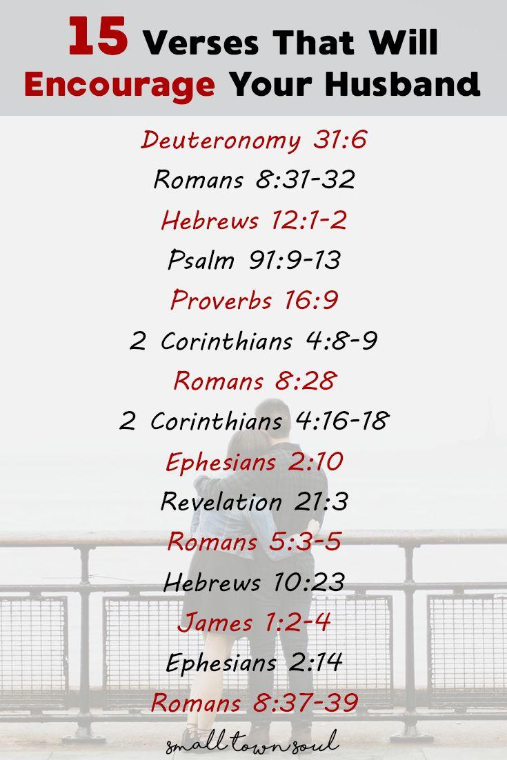 15 verses to encourage your husband free printable
