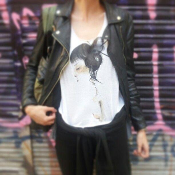 VIVI on tank top #woman #fashion #hand #painted on cotton tank