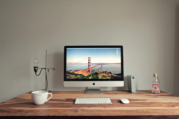 Minimalist workspace minimalist pinterest mike d 39 antoni and lamps - Small work spaces minimalist ...