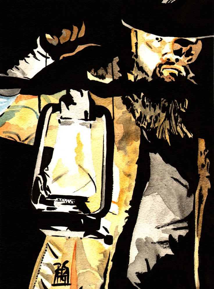 "The Art of Rob Schamberger | Bray Wyatt Ink and watercolor on 9"" x 12""."