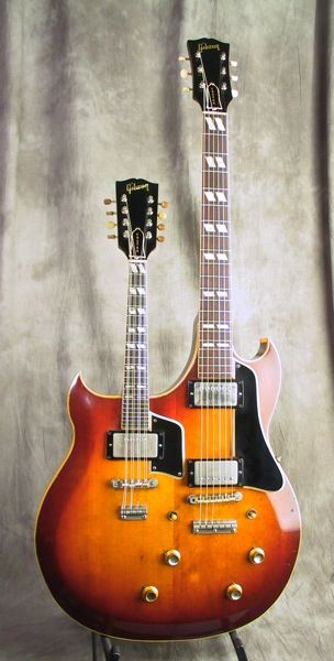 Vintage 1962 Gibson EMS-1235 double-neck mandolin and guitar necks on one body