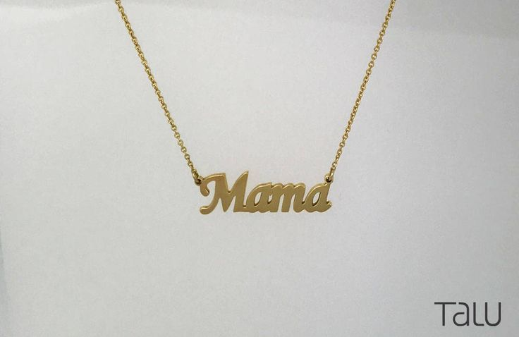 A personal favourite from my Etsy shop https://www.etsy.com/listing/525034703/mama-gold-necklace-mother-jewelry-14k