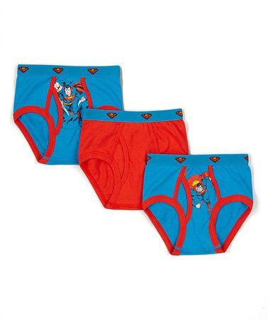 Loving this Three-Pair Vintage Superman Underwear Set - Toddler & Boys on #zulily! #zulilyfinds