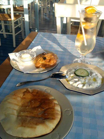 Birthday tzatziki @ Dionysos restaurant, Budapest