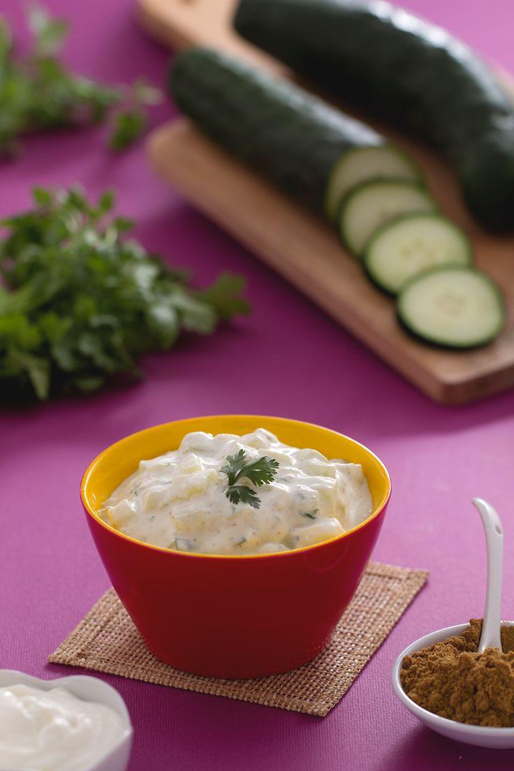 La #raita è una #salsa fresca e saporita a base di #yogurt,