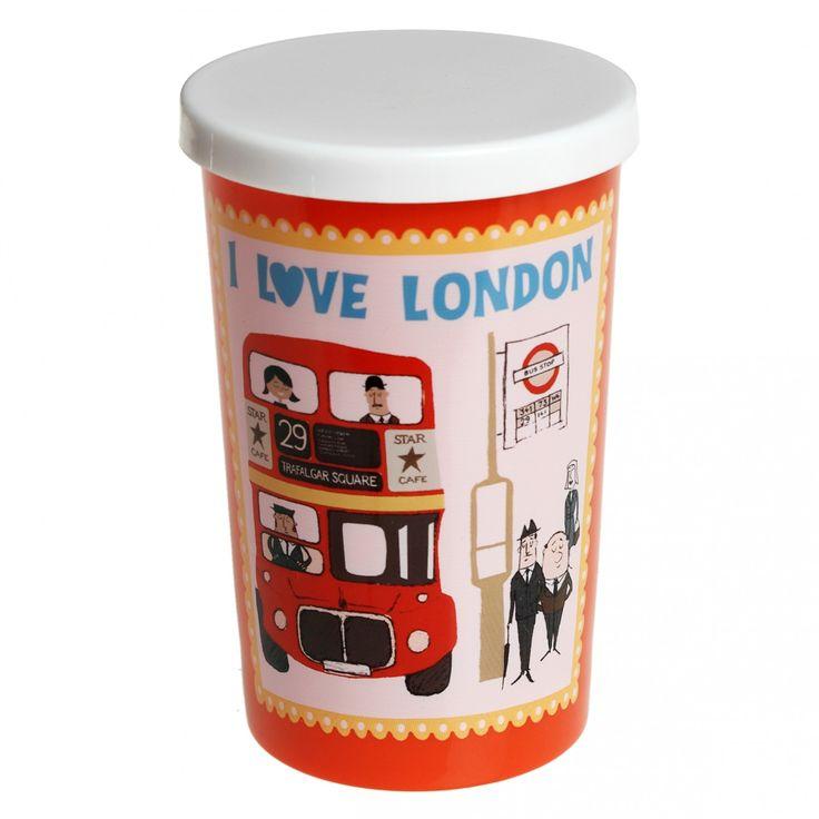 I Love London Beaker With Lid Eten en