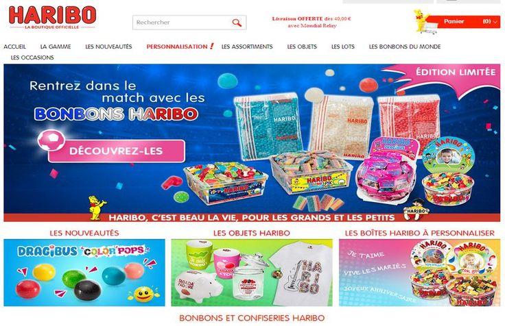 La boutique haribo, une façon facile et rapide pour acheter ses bonbons. #E_commerce_Shopping