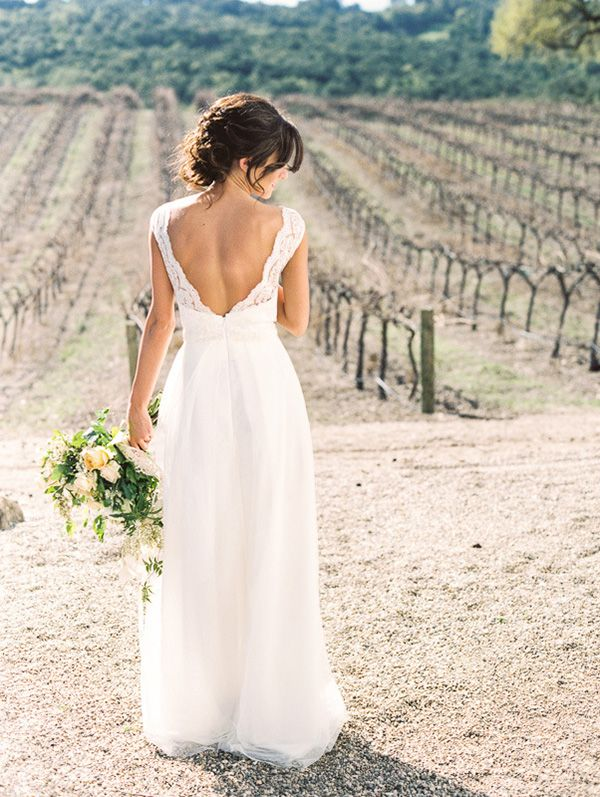 Open Back Lace Wedding Dress | Danielle Poff Photography