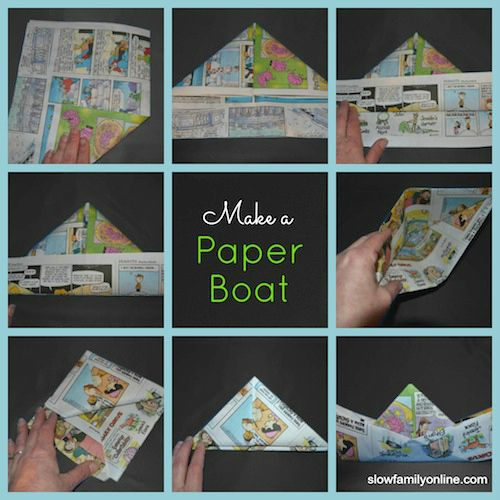 Make your own boat out of paper (it really floats!)