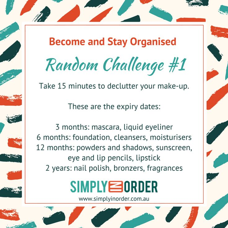 Become and Stay Organised - Random Challenge #1  Declutter your make-up
