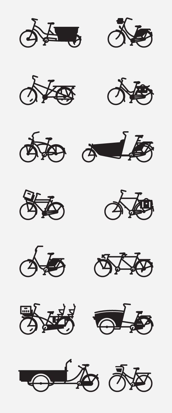 bikes, styles, wheels, kinds of bikes, fun, illustration, line drawings
