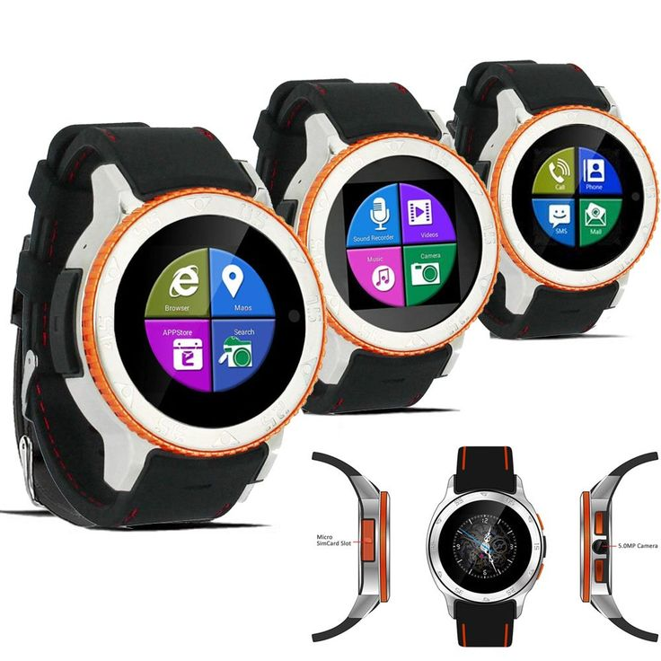 Indigi UNLOCKED! Android 4.4 SmartWatch Cell Phone 3G WiFi