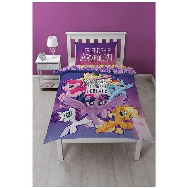 My Little Pony Movie Adventure Single Duvet Cover Set (€22) ❤ liked on Polyvore featuring home, bed & bath, bedding, duvet covers, my little pony pillowcase, purple bedding, my little pony, pink duvet sets and purple duvet sets