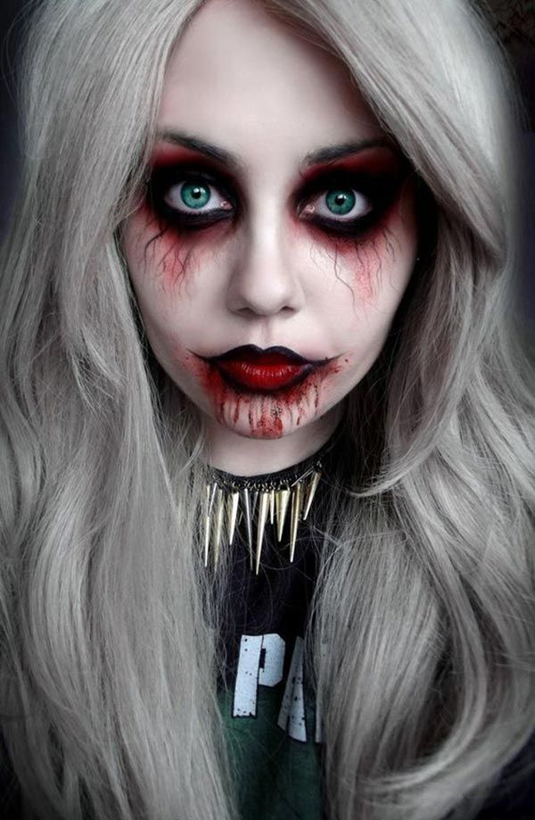 best 25 ghost makeup ideas on pinterest vintage halloween makeup diy zombie makeup and vintage glam looks - Easy But Scary Halloween Makeup