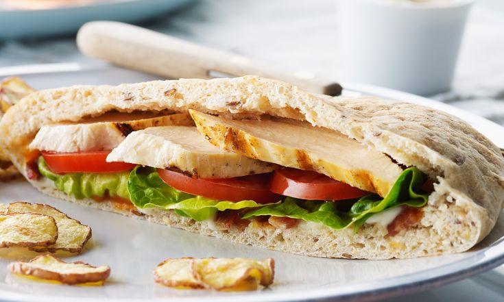 Simple  club sandwich au poulet