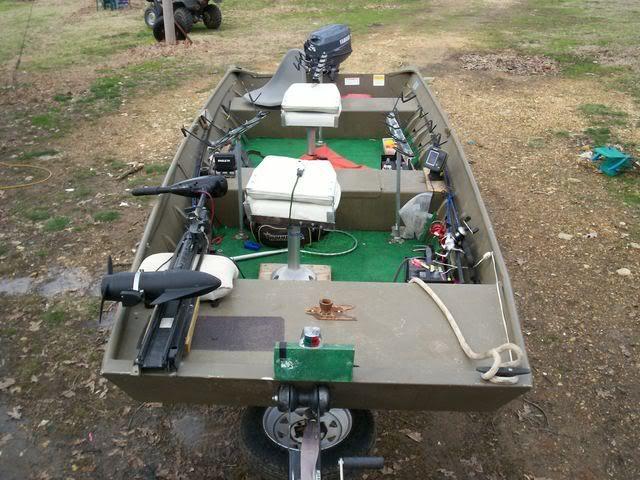 Trolling motor set up for jon boats rod holders for jon for Trolling motors for boats