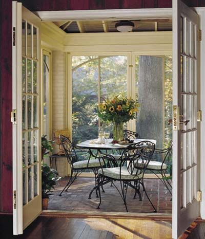 Photo: John Blais   thisoldhouse.com   from Editors' Picks: Our Favorite Dining Areas Ever -- beautiful warm weather dining on the screened porch.