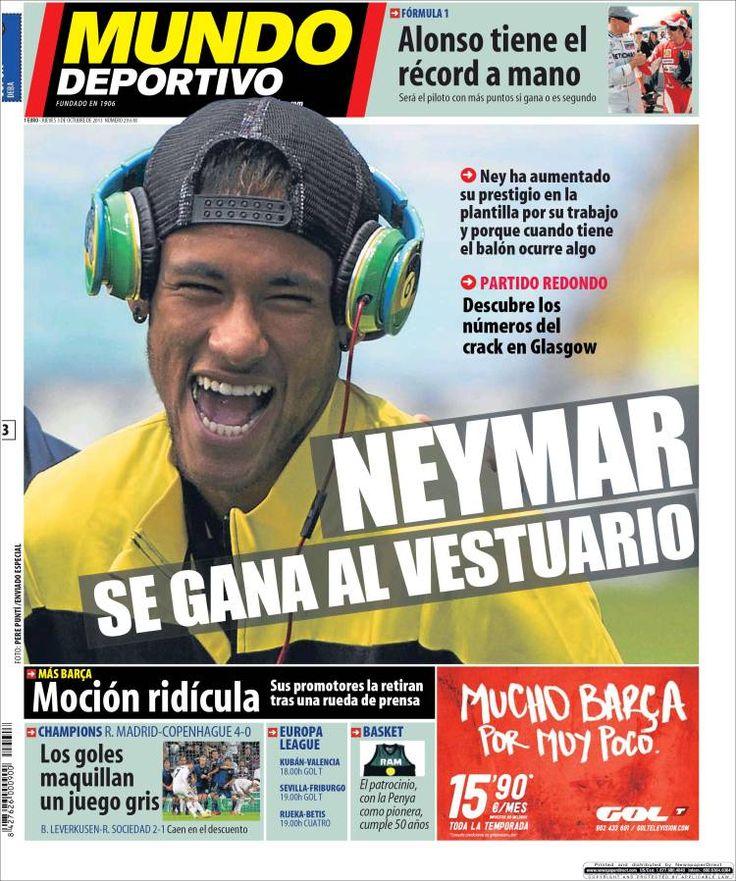 Los Titulares y Portadas de Noticias Destacadas Españolas del 3 de Octubre de 2013 del Diario Mundo Deportivo ¿Que le pareció esta Portada de este Diario Español?