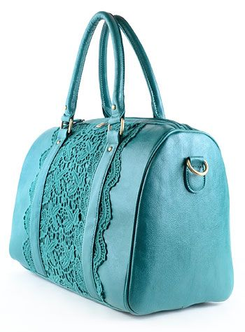 Teal Away For The Weekend bag at PLASTICLAND