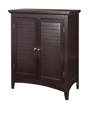 45% OFF Elegant Home Fashions Slone Double Shutter Door Floor Cabinet, Dark Espresso