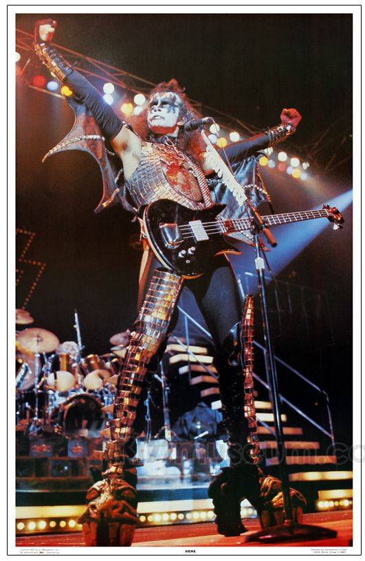 Kiss 1977   KISS Alive II Poster 1977 - Gene Simmons: KISSmuseum.com