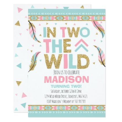 Boho 2nd Birthday Invitation In Two The Wild Party - invitations custom unique diy personalize occasions