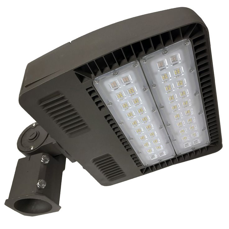 LED Shoebox Pole Light, 150W (500W - 850W Equivalent), Street Parking Lot Lighting, FREE Dusk to Dawn Photocell, 5000K, 18,000 Lumen, 50,000h Lifespan, Outdoor, ETL & DLC, Industrial & Commercial