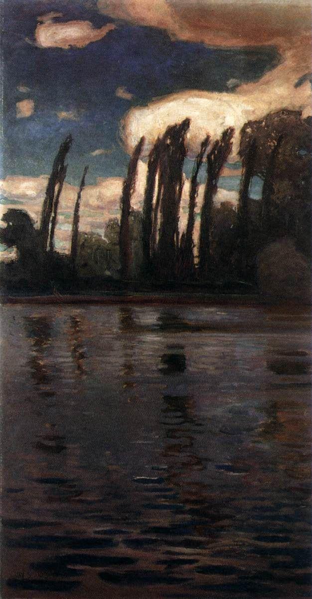 Jan Stanislawski - Poplars beside the River, 1900, Poland