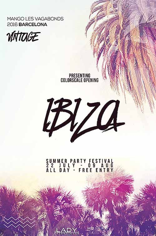 Electro Summer Free Flyer Template…
