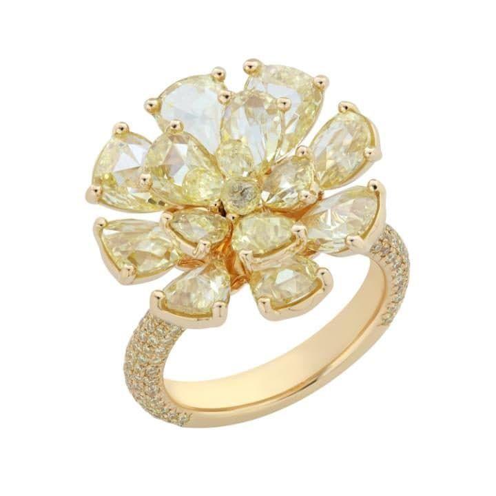 CanaryYellowJasminering in yellow gold with yellow diamonds, £28,800, Nirav Modi