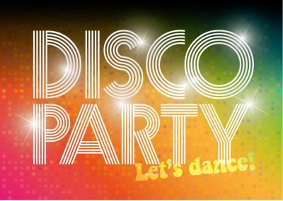 Einladung In Coolem 70er Disco Look Für Echte Disco Fans. Nur Eigene Texte