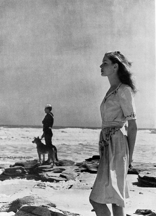 Harper's Bazaar May 1943 - photo by Louise Dahl-Wolfe  Lauren Bacall