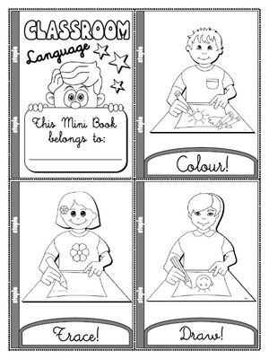 Classroom Commands Worksheets Sketch Coloring Page