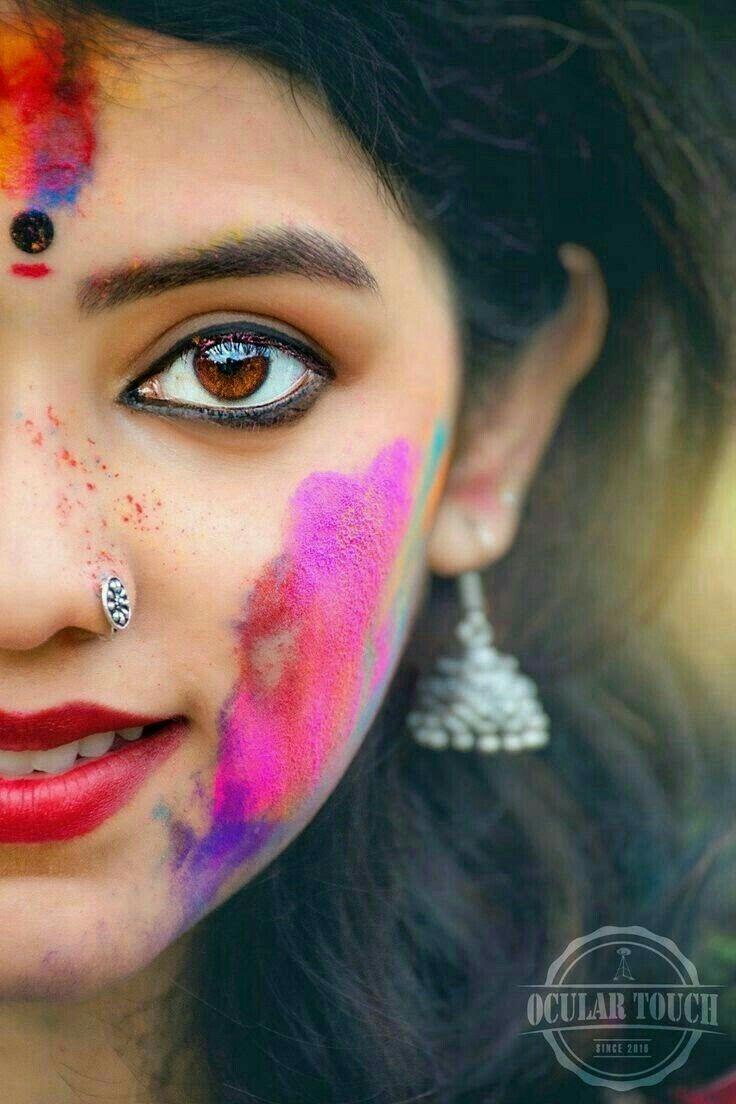 Girls Beauty Holi Girls Girl Eyes Drawing Holi Pictures