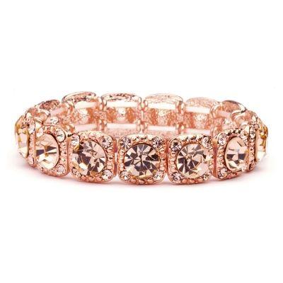 Austrian Crystal Rose Gold Event Bracelet   www.glamadonnashop.com.au