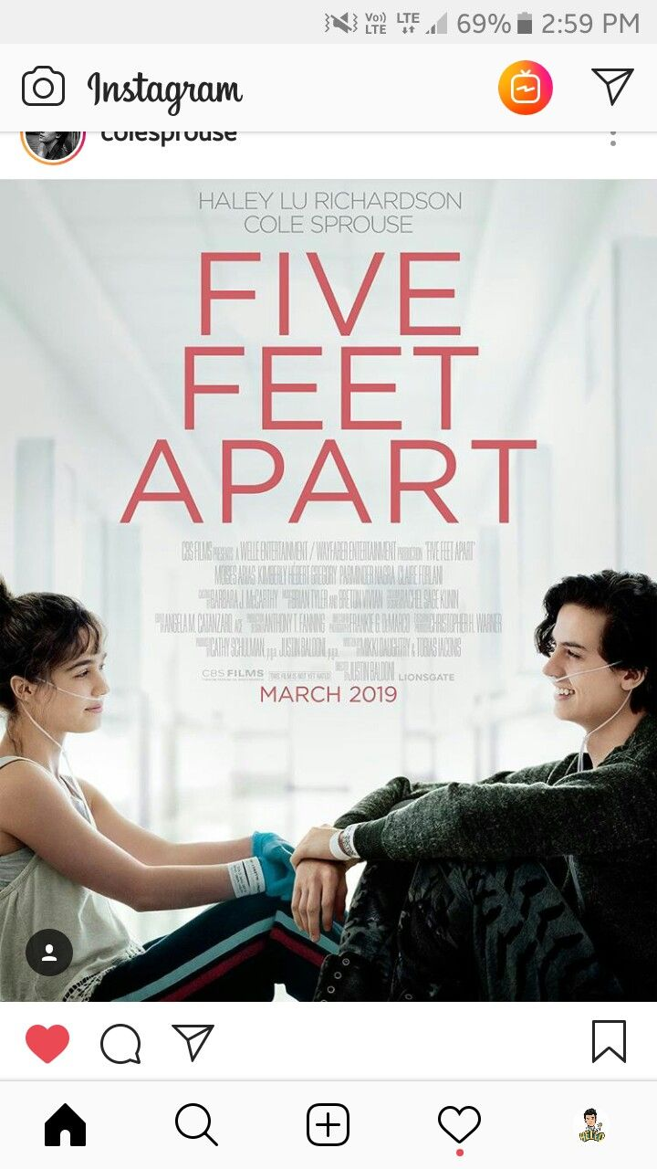 New Movie Five Feet Apart With Cole Sprouse
