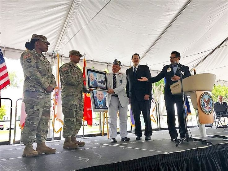 The VA Long Beach Medical Center was officially renamed Tibor Rubin VA Medical Center in a ceremony today dedicated to the Medal of Honor recipient, Korean War hero and POW and Holocaust survivor.