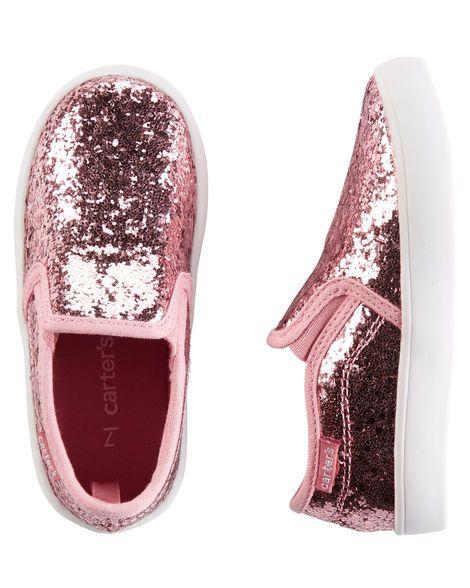 Baby Girl Carter's Sparkle Slip-On Shoes from OshKosh B'gosh. Shop clothing…