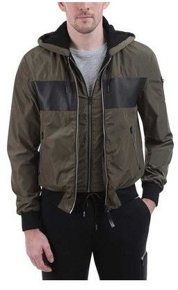 Mackage Men's Weston Color Block Hooded Bomber Jacket
