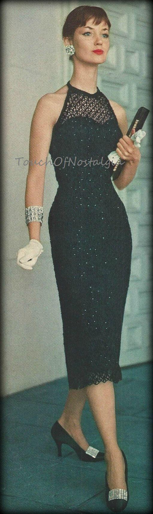 Crochet DRESS Evening Vintage Crochet Pattern  Glamorous Lace