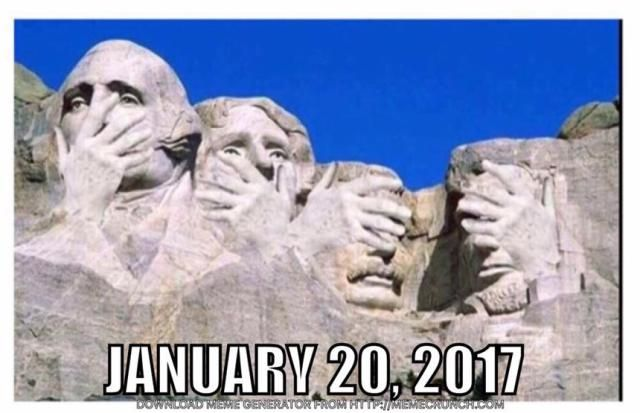 Take a look back at the crazy year in politics with the most memorable memes skewering Donald Trump, Hillary Clinton, Barack Obama, Joe Biden, and others.: Trump Inauguration Day