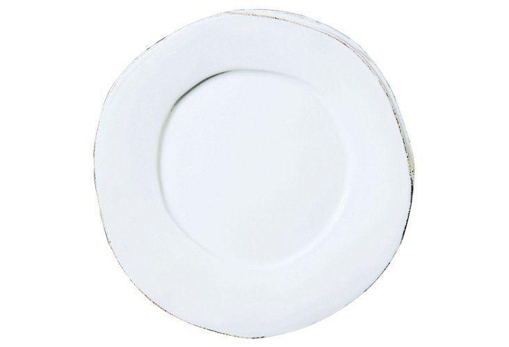 Lastra Dinner Plate, White Vietri