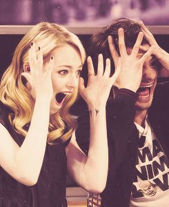 If you cannot tell, my love for Emma Stone and Andrew Garfield stems from their ability to make weird faces.