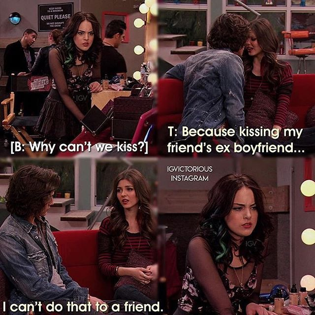Qotd Bori Or Bade Who Did You Ship Credit Igvictorious Icarly And Victorious Victorious Nickelodeon Victorious Tv Show