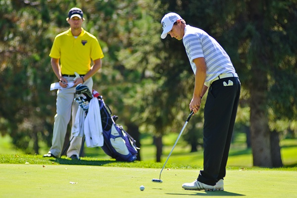 Andrew Benson at BSU's golf invite where the Beavers took 6th. To read more visit http://www.bsubeavers.com/mgolf/news/2012-13/5980/bsu-takes-sixth-in-bsu-invitational/