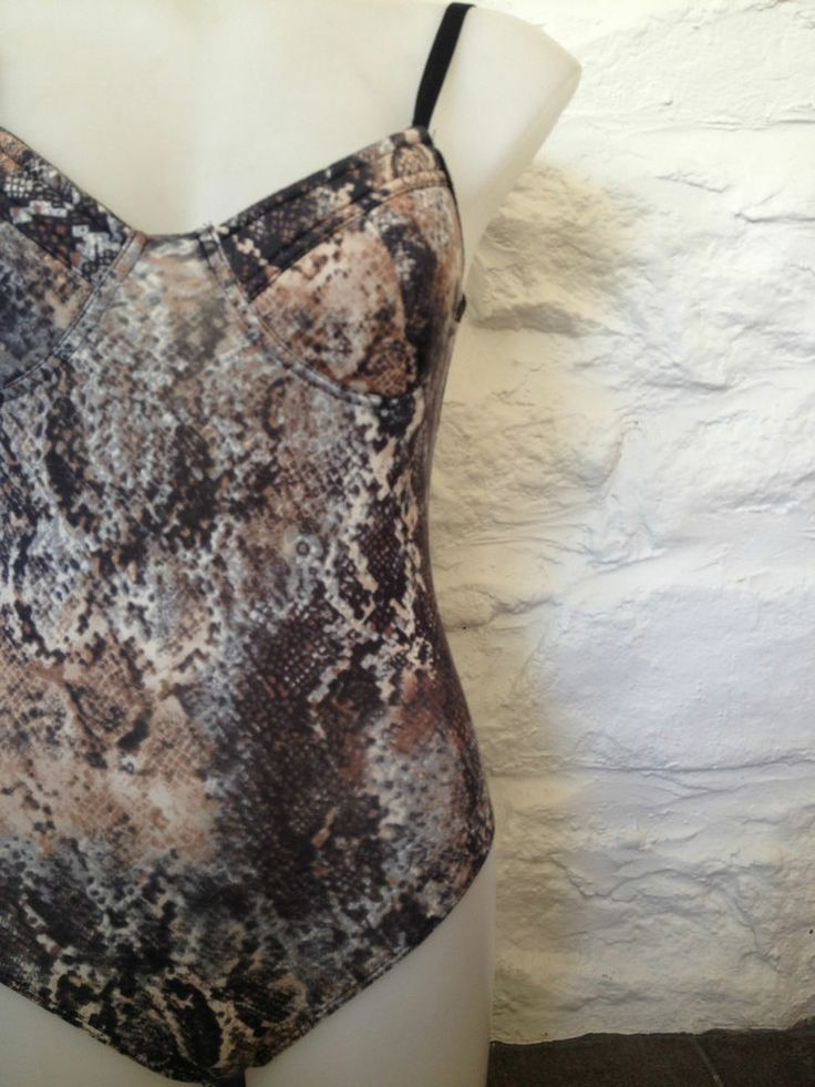 Brand New Ladies Bardot Snakeskin Leotard, Size 12 - Now Selling! Click image to go to eBay auction.