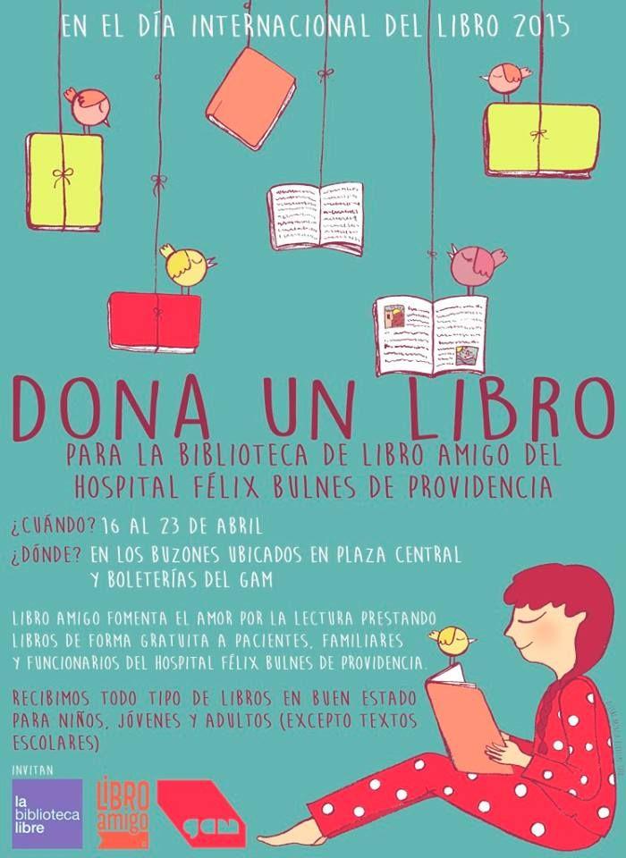 Dona tus libros para crear la biblioteca del Hospital Félix Bulnes. Los buzones están ubicados en Centro Gabriela Mistral GAM. #DíadelLibro #Cultura #Ayuda #Literatura