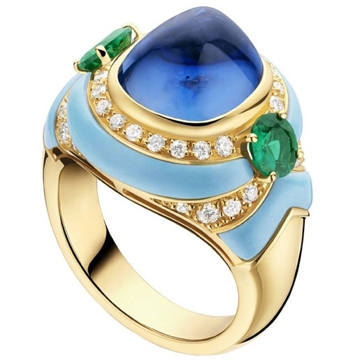 bulgari oneofakind ring from the high jewelry collection gold