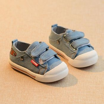 Canvas Children Shoes Sport Breathable Boys Sneakers Brand Kids Shoes for Girls Jeans Denim Casual Baby Flat Shoe 21-25