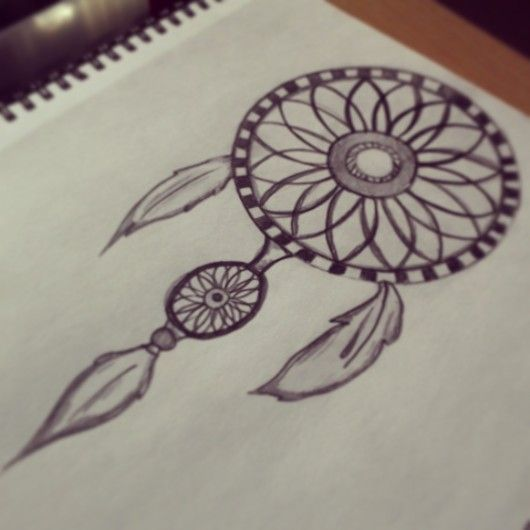 Dream catcher drawing by rebekah timpson on deviantart for Things tattoo artists love